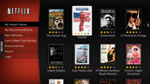 Netflix interface for Boxee.tv